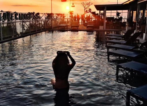 Canggu's Spectacular Sunset at UpZcale Sky Dining & Bar